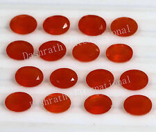 Natural Carnelian Oval Cut 4x6mm To 10x12mm Orange Color Calibreted Gemstone
