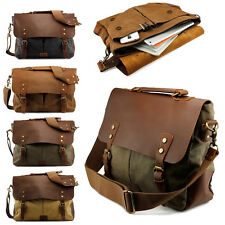 Men's Vintage Retro Canvas Shoulder Casual School Military Messenger Travel Bag
