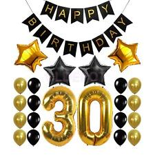 Happy Birthday Banner 30th 40th 50th 60th Birthday Foil Balloons Party Decor