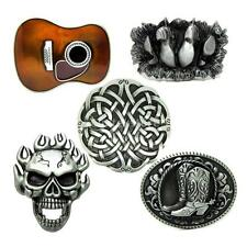 Novelty Western Cowboy Belt Buckle Funny Boots Metal Classic Cool Skull Guitar