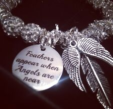 Angels & Quotes - Using Swarovski Crystal Bead Bracelet Christmas Angel Wing