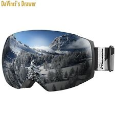 OutdoorMaster Ski Goggles PRO - Frameless, Interchangeable Lens Snow Goggles...