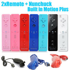 2in1 Remote Built in Motion Plus Controller +Nunchuck for Wii Wiimote AU