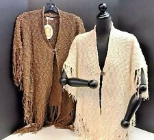 NEW Sedona One-Size One-Button Fringe Shawl Finely Crafted in Bali by Baik Baik