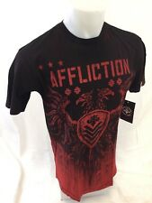 Mens NEW AFFLICTION T Shirt RED WASH REVERSIBLE TARNISHED VALUE M L XL 2XL 16130