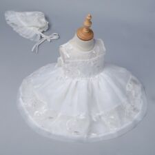 Embroidery Christening Dress Baby Girl Kid Baptism Gown Princess Birthday Party
