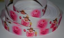 "Girls Pinkalicious Pink Princess 7/8"" Printed Grosgrain Hairbow Ribbon"