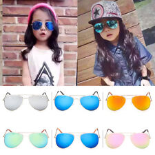 Retro Children Kids Boys Girls Aviator Sunglasses Eyewear UV400 Glasses Shades