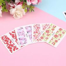 24 sheet Water Decals Nail Art Transfer Stickers Flower Manicure Decoration LN