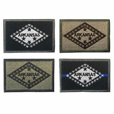 USA The Natural State Arkansas AR Flag Military Army Tactical Morale Badge Patch