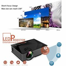 UC46 Wifi HD 1080P LED Video Projector 3D Wifi Home Theater SD TV/USB/VGA HDMI M