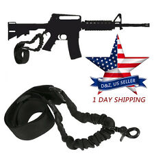 Tactical 1 One Single Point Adjustable Bungee Rifle Gun Sling For AR 15 Black