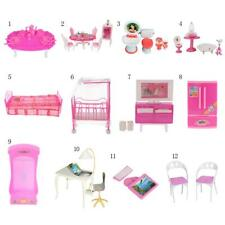 Miniature Furniture Pretend Play Set for Barbie Sisters Dolls House DIY Decor