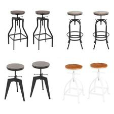 2x Industrial Bar Stool Swivel Dining/Breakfast/Kitchen Guests Chair Urban A2S7