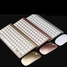 Mini Wireless USB Keyboard Mouse Kit Receiver Cordless Desktop PC Sliver / Gold