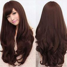 New Sexy Women's Fashion Wavy Curly Long Hair Full Wigs Cosplay Party Wig+Cap