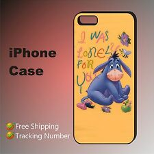 AR# EEYORE DONKEY Cute Quotes Case Cover iPhone 8 8+ 7+ 7 se 6s+ 6+ 5c 5s 4s