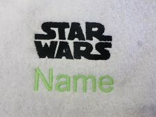 STAR WARS design Embroidered on Towels, Bath Robe, Hooded with Personalised name