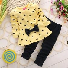 2pcs Clothing Girls Toddler Baby Clothes for Kids Infant Outfits Set Tops+Pants