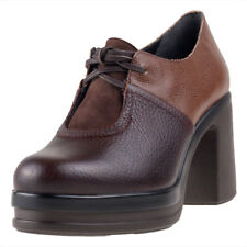 Camper Alice 8cm Heel Textured Lthr Womens Shoes Brown New Shoes