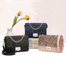 Women Sequins Chain Handbag Bling Shoulder Messenger Bags Evening Party Cocktail