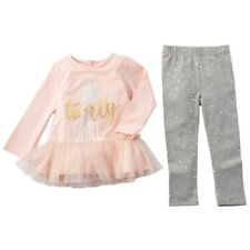 "Mud Pie Pink/Gray ""TWIRLY GIRL TUNIC & LEGGING"" Set - 3T or 4T - NEW"