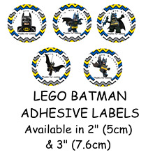 Personalised LEGO BATMAN Self Adhesive Glossy Labels/Stickers