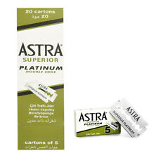 Astra Superior Platinum Double Edge Shaving Razor 50 100 200 300 400 500 Blades