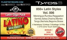 850+ NEW YAMAHA STYLES LATIN GIGA PACK + OTS SFF2  - FOR TYROS 3 - PSR-S970 S950