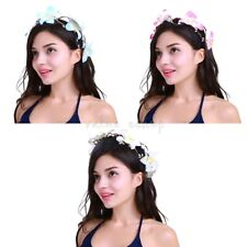 Women Girls Handmade Wedding Flower Hair Garland Crown Headband Wreath Hairband