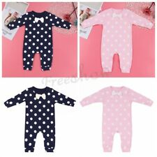 Toddler Infant Baby Toddler Polka Dot Cotton Romper Bodysuit Outfit Clothes Cute