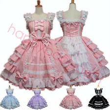 Anime Girls Lolita Angel Love Costume Gothic Princess Maid Outfit Dress Cosplay