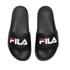 "FILA ""Drifter Slides"" Sandals (Black/Fila Red/White) Men's Slip On Slide Shoes"