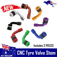 CNC Tyre Valve 90° Angle Motorcycle Wheel Stem Cap Cover for Harley BMW