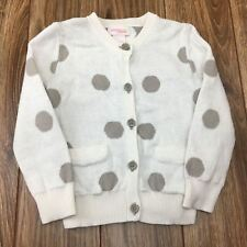 Sweater Baby Girls Toddler 0 3m 9m 12m 3t Shrug Polka Dot White Oshkosh Carters