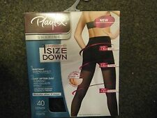 Playtex 40 Denier Tights Black One Size Down Anti-Cellulite Slimming Shaping