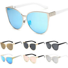 Retro Women Vintage Cat Eye Sunglasses Oversized Eye Glasses Shades Eyewear Hot
