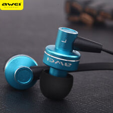 Original Awei Subwoofer 3.5mm Stereo Earphone Headphones Sport Earbud With Mic
