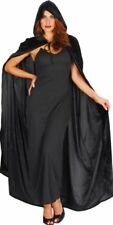 Velvet Hooded Cloak Long Cape Vampire Halloween Costume UK