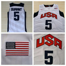 Kevin Durant #5 dream Team 2012 USA Jersey London Olympics Men's White S-2XL NWT