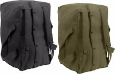 Heavy Duty Cotton Canvas Large Military Parachute Cargo Bag with Backpack Straps