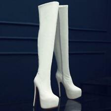 Riding Hot Womens Patent Leather Stilettos High Heels Over Knee Thigh Boot Shoes