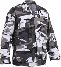 Mens City Camouflage Military BDU Shirt Tactical Uniform Army Coat Army Fatigues