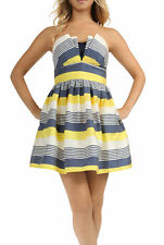 Teeze Me Juniors Strapless Origami Folded Bodice Empire Party Dress
