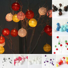 Cotton Ball Strap Party String Lights–Fairy,Wedding,Christmas Party Decor 20 LED