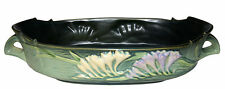 """Roseville Freesia Green Large #468-12"""" Console Bowl"""