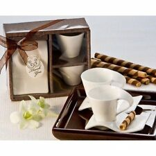 Swish Cup and Biscotti Plate Favor (Set of 2)