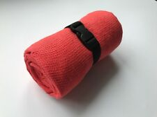 """TRAVEL Towel 100% Linen Pink Small Waffle Weave 140 cm x 85 cm (55""""x33"""") New"""