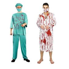 Zombie Bloody Doctor Costume Mens Outfit Halloween Masquerade Party Fancy Dress