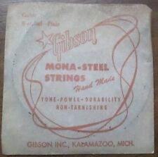 "Antique Vintage New Old Stock Gibson Guitar ""B"" String in Original Package"